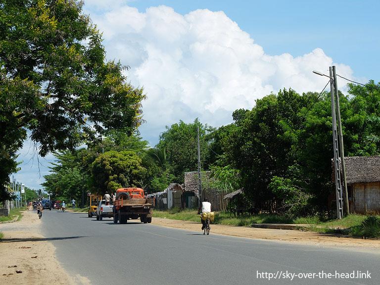 トマナシア空港の前の道路/Baobab Road(Madagascar)