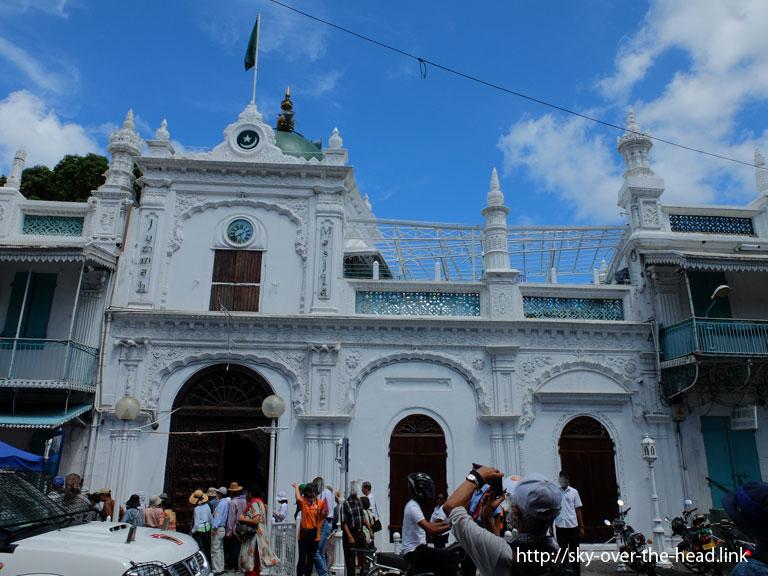 イスラム教のジュマ・モスク/ポートルイス港(モーリシャス)/Port Louis Port