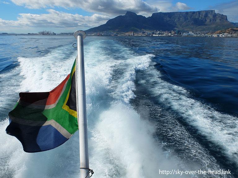 ケーブルマウンテンと、南アフリカの国旗|ケープタウン(南アフリカ)/Cape Town (South Africa)