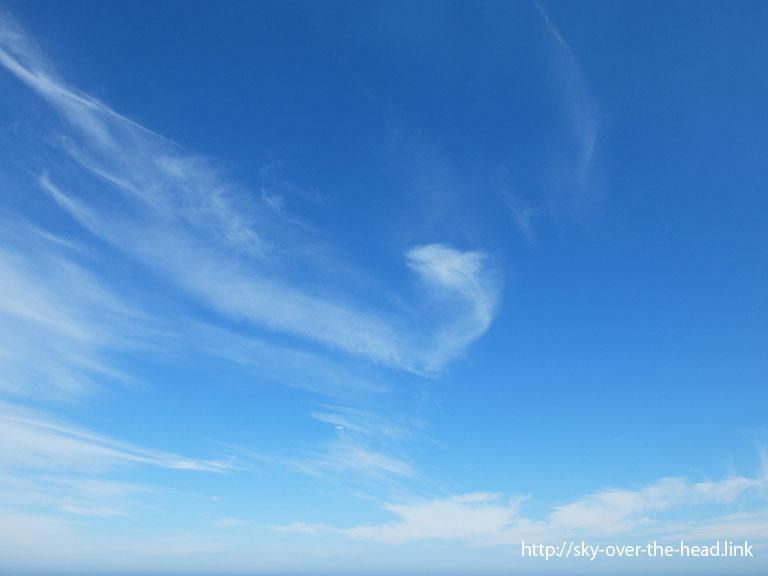 太平洋で見た面白い雲/Interesting clouds seen in the Pacific Ocean