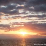 夕焼け|バルパライソからリマへ航海中/During the voyage from Valparaiso to Lima