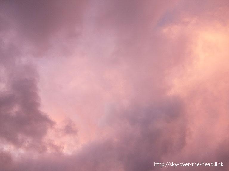 南太平洋の夕暮れ時の雲/South Pacific