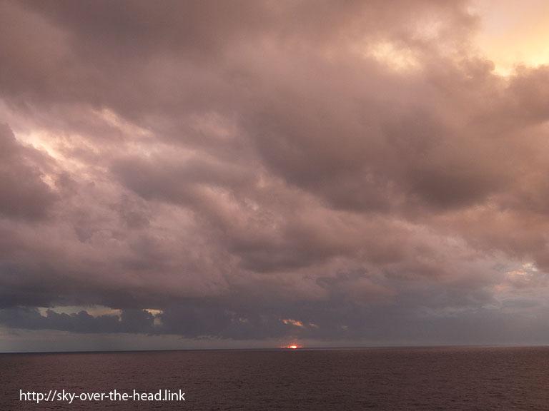 南太平洋の夕陽/South Pacific
