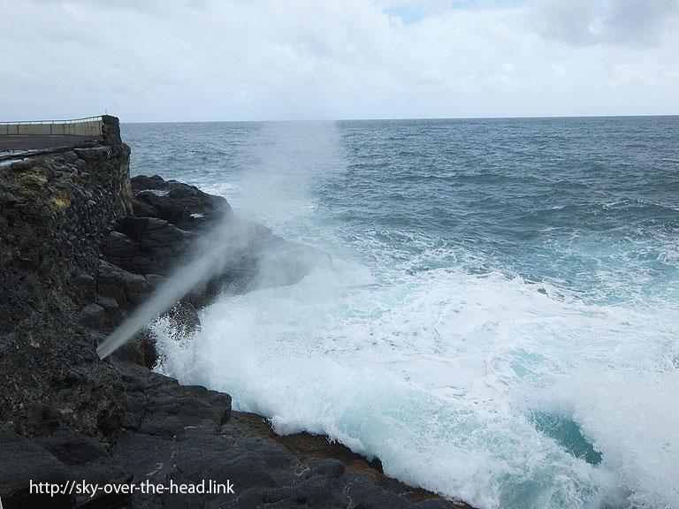 アラホホの潮吹き穴|パペーテ(タヒチ/Papeete (Tahiti))