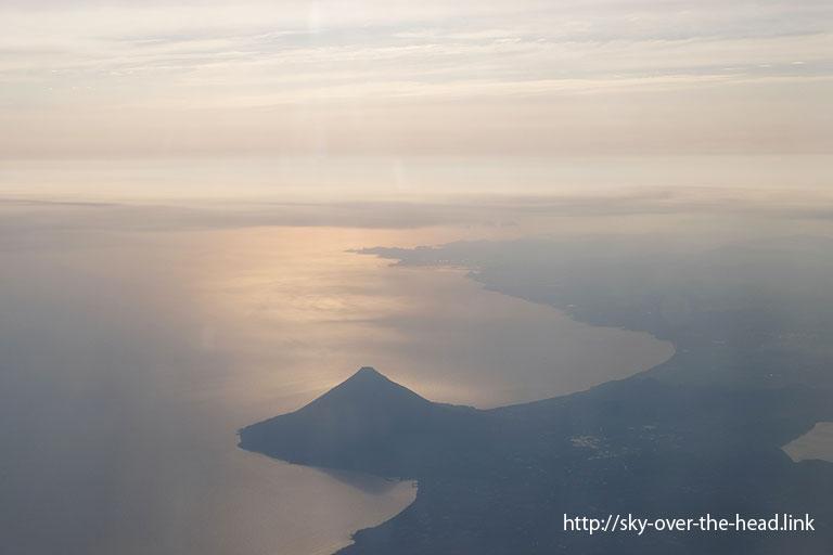 空から見た開聞岳(日本)/Kaimondake from sky(Japan)