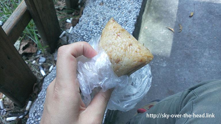 お昼ご飯:ちまき@台湾のご飯