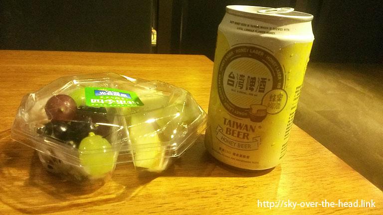 台灣啤酒はちみつ味@台湾のご飯
