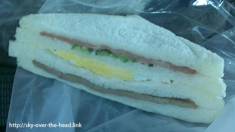 朝ご飯:きのうのお店でサンドイッチ@台湾グルメ