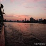 チャオプラヤ川の朝焼け