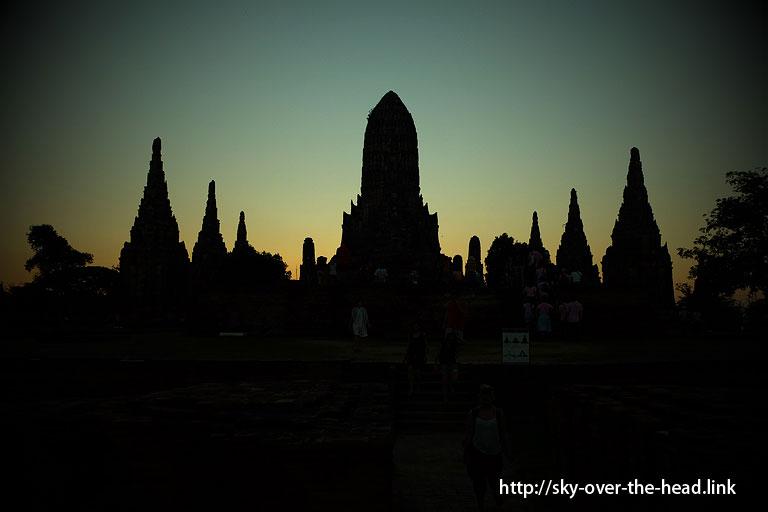 ワット・チャイ・ワタナラーム(タイ/アユタヤ)/Wat Chai Watthanaram(Thailand/Ayutthaya)夕暮れ