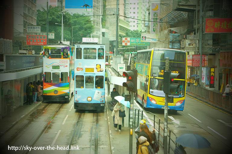 トラムで香港観光(香港)/ Hong Kong tourism by tram(Hong Kong)