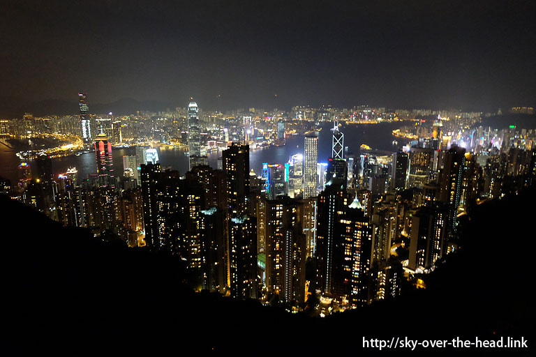 ビクトリアピークで夜景観賞(香港)/Victoria Peak (Hong Kong)
