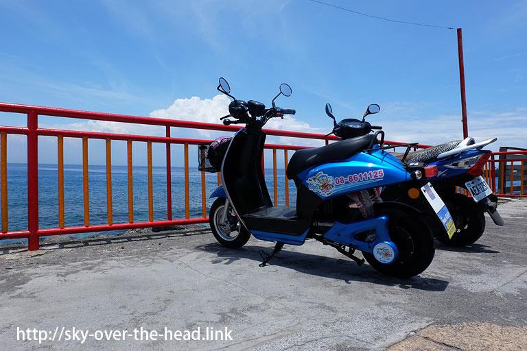 小琉球で「電動バイク」をレンタルしました