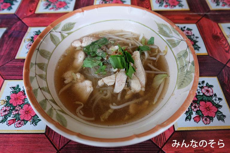 【9食目】ヘルファイアメモリアルの屋台で麺類@タイ/カンチャナブリー