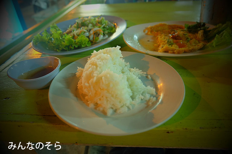 レストランで夕食@スコータイ/タイ