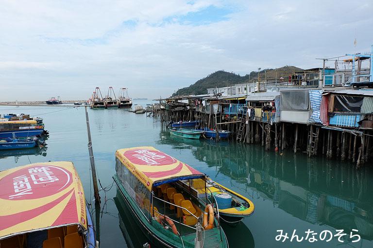大澳の観光ボート@香港の乗り物観光