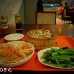 「小吃広場(フードコート)」で夕ご飯