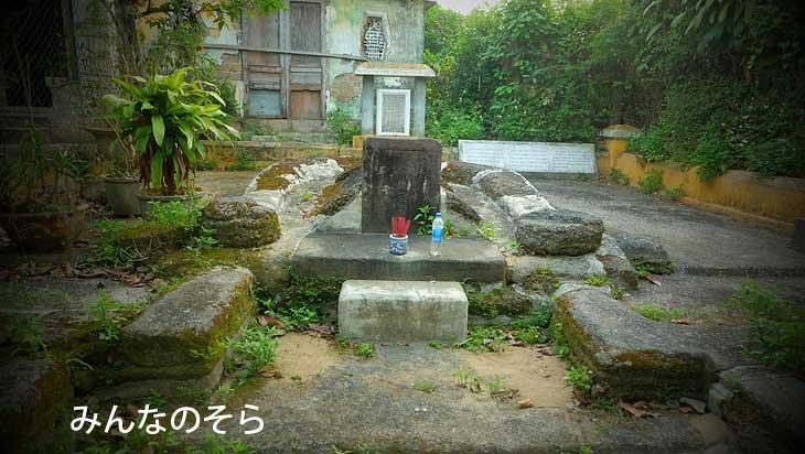 蕃二郎さんのお墓(ホイアン/ベトナム)