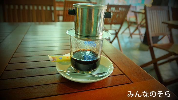 べトナムコーヒーを飲んでひと休み