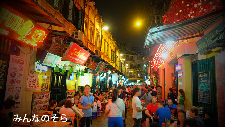 夜の旧市街@ハノイ@ベトナム