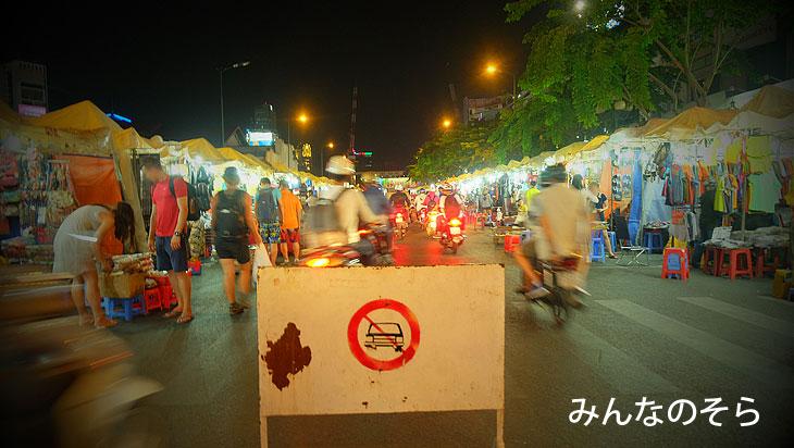【準備完了】ベンタン市場外のナイトマーケット@べトナム/ホーチミン