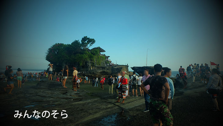 タナロット寺院に干潮時間と夕暮れ時と2回行ってみた(バリ島)