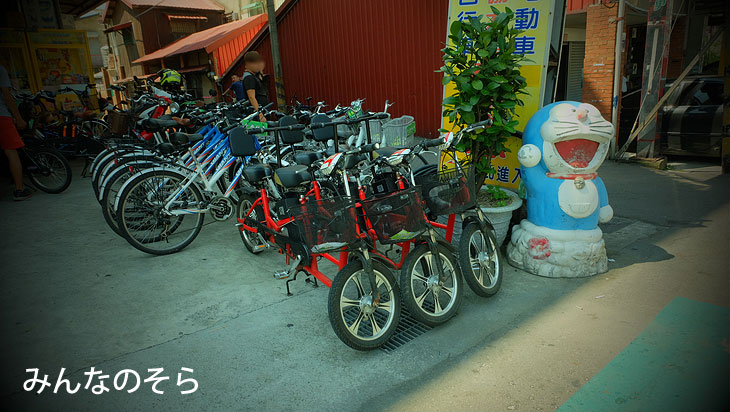 2.后里駅前で、台湾が世界に誇るGiantさんの自転車をレンタル