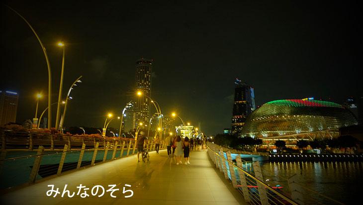 Esplanade Bridge?ジュブリーブリッジ(橋)?マリーナ・ベイを望む絶景スポット