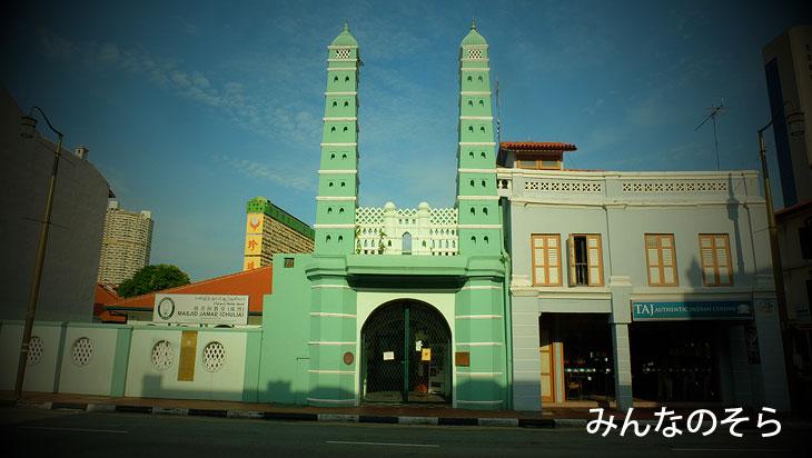 ジャマエ・モスク(マスジッド・チュリア)Masjid Jamae (Chulia)|チャイナタウンに4泊!おすすめの観光スポット、穴場をシェアします(シンガポール)
