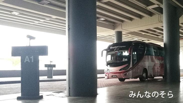 マラッカセントラル(Melaka Sentral)まで、バスに乗車
