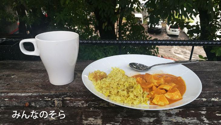 朝カレー@宿泊先:ミングル ホステル クアラルンプール
