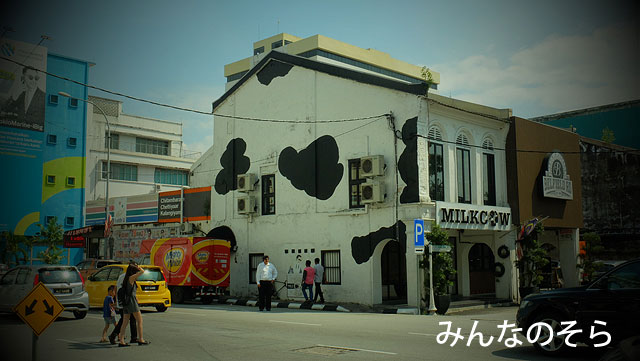 壁画に!建物!イポーを縦横無尽に歩き回った(マレーシア)
