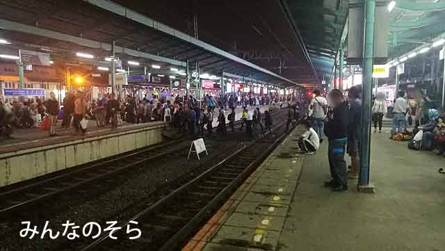5.Manggarai(マンガライ)駅でKereta Komuter(コミューター)のCentral Lineに乗換えてゴンダンディア駅へ