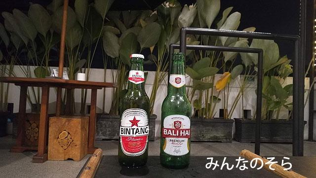 宿泊先のホステルでビールにありつけた