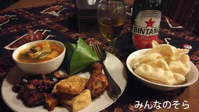 宿のご主人おすすめ!Sentong Asri Restで夕ご飯