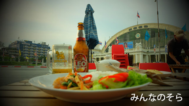 ファランポーン駅には、ご飯を食べることができる場所が数カ所ある