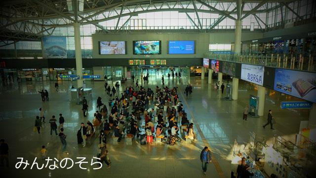 釜山駅で、KTX乗り場を下見しました
