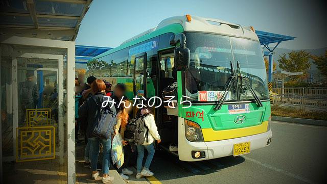 新慶州駅から700番バスで仏国寺へ