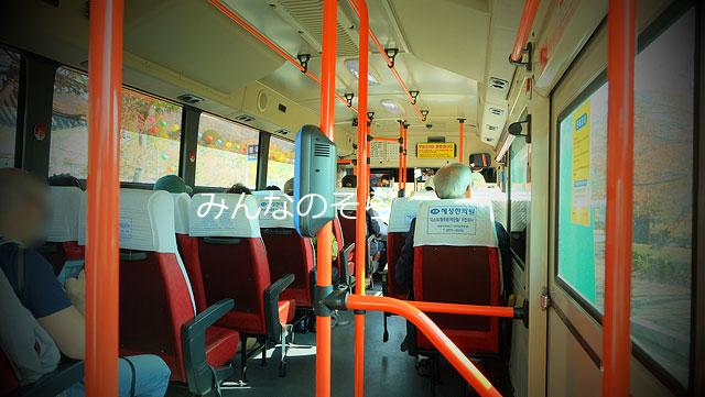 仏国寺から石窟庵へ12番バスで移動