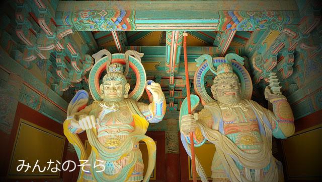 天王門で、四天王とご対面