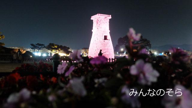 ピンク!お花!ラブリーな瞻星台(チョムソンデ)